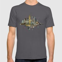Collage City Mix 8 Mens Fitted Tee Asphalt SMALL