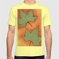Autumn 2013 Drawing Meditation - color Mens Fitted Tee Lemon SMALL