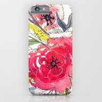 iPhone Cases featuring Floral III by Tonya Doughty
