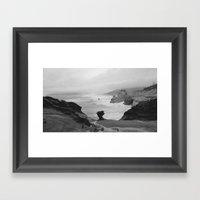 Dark Coastal Days Framed Art Print