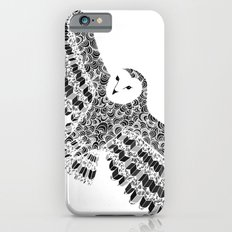 Black and White Barn Owl Beaut Slim Case iPhone 6s