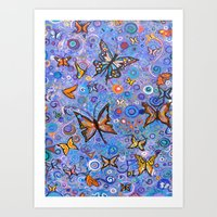 Butterflies are Free Art Print