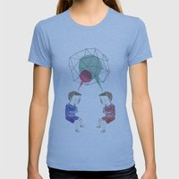 Twins Womens Fitted Tee Athletic Blue SMALL
