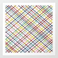 Weave 45 Zoom Art Print