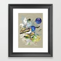 Yellow Birds Framed Art Print