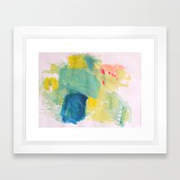 Life in Aqua Framed Art Print