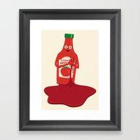 Fake Blood Framed Art Print