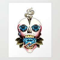 Diamond Skull Art Print