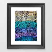 Watercolor Doodle Framed Art Print