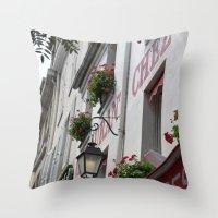 Chez Eugène Montmartre Throw Pillow