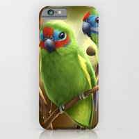 iPhone & iPod Case featuring Double-eyed Fig Parrot by Lily Art