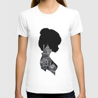 Little Houses Silhouette Womens Fitted Tee White SMALL
