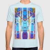 Colored Window Mens Fitted Tee Light Blue SMALL