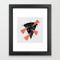 Lazer Pizza Framed Art Print