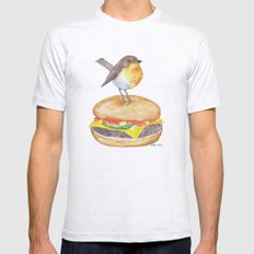 Chubadee on a Cheeseburger Mens Fitted Tee Ash Grey SMALL