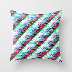 filtered diagonals Throw Pillow