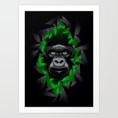 Shy Green Eyes Art Print