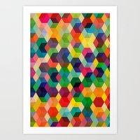 Hexagonzo Art Print