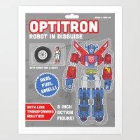 Optitron: Robot In Disgu… Art Print