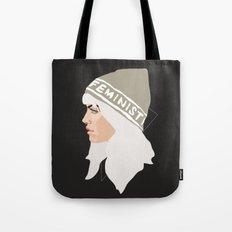 Feminist (Silver) Tote Bag