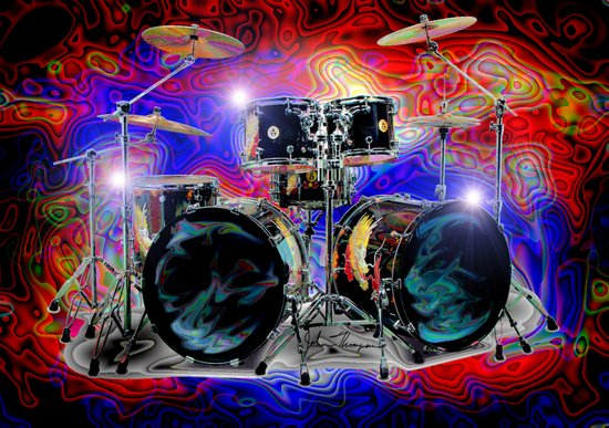 Psychedelic Drums Art Print