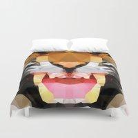 Tiger - Geo Duvet Cover