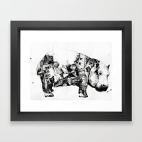 Chaos and order 1 Framed Art Print