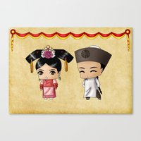 Chinese Chibis Canvas Print