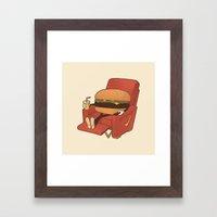 Lunch Break. Framed Art Print