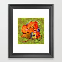 fall season Framed Art Print