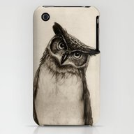 Owl Sketch iPhone (3g, 3gs) Slim Case