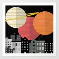Art Print featuring Planetscape  by Shelby Thompson