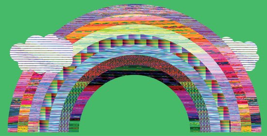 glitchbow Canvas Print