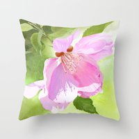 Apple Blossom Three Throw Pillow