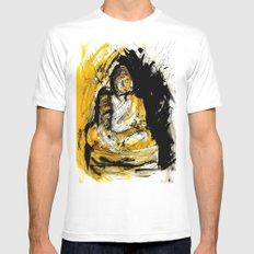 buddha White Mens Fitted Tee SMALL