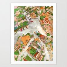 Tala Square Art Print