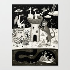 Scissors, String and Solitude  Canvas Print