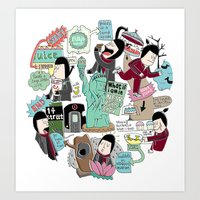 What If I Am In New York… Art Print