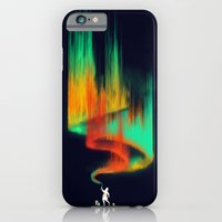 iPhone Cases featuring Borealis Painter by Budi Kwan