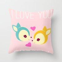 Deerly Throw Pillow