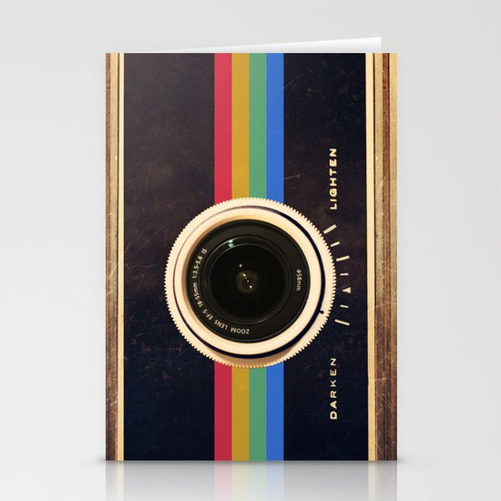 Modern Vintage inspired Camera! Stationery Card