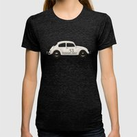 Famous Car #4 - VW Beetl… Womens Fitted Tee Tri-Black SMALL