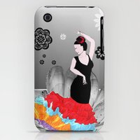 iPhone 3Gs & iPhone 3G Cases featuring Spanish Dancer by FreelanceDesigning