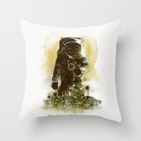 Sunflower Field Throw Pillow
