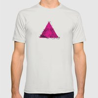 A (abstract geometrical type) Mens Fitted Tee Silver SMALL