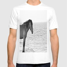 Assateague Pony White SMALL Mens Fitted Tee