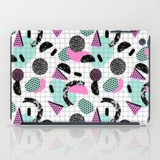 Joshin - memphis throwback retro pop art geoemetric pattern print unique trendy gifts dorm college iPad Case