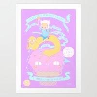 ICE-CREAM TIME With Finn… Art Print