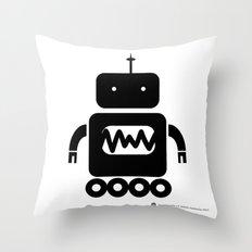 ROBOT Number Three Throw Pillow