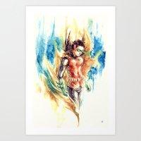 Damian Wayne * Robin Art Print